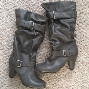 Slouchy Heeled Boots